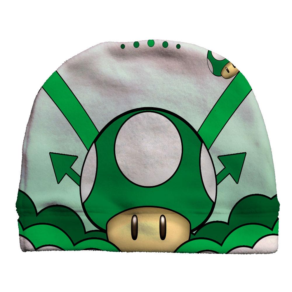 1 Up Mario Fleece Beanie Custom Socks by JustSockz 8a746ad08f09