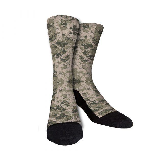 Army Camouflage Custom Crew Socks