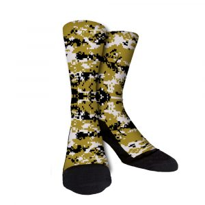 Black Gold Digi Camo Custom Crew Socks