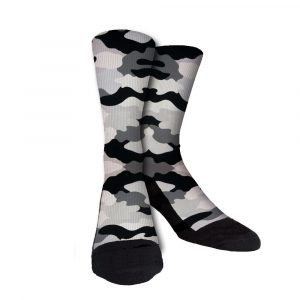 Black White Grey Camo Crew Socks