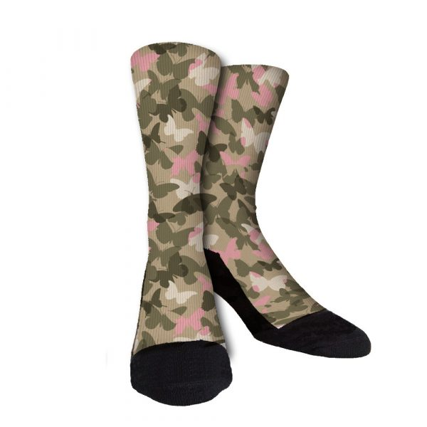 Butterfly Camo Custom Crew Socks