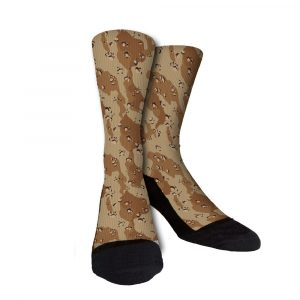 Military Desert Camouflage Custom Socks