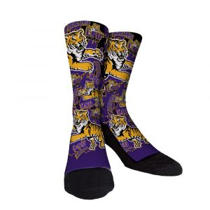 LSU Purple And Gold Custom Socks