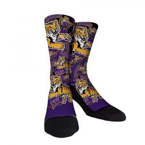 LSU Purple And Gold Custom Socks