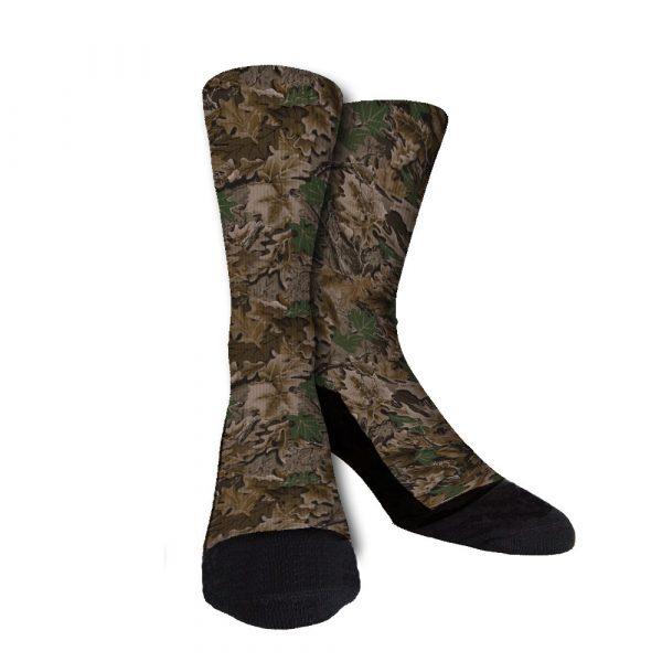 Leaf Camo Custom Crew Socks