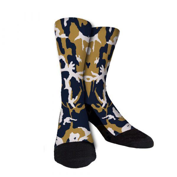 Rams Camo Custom Crew Socks