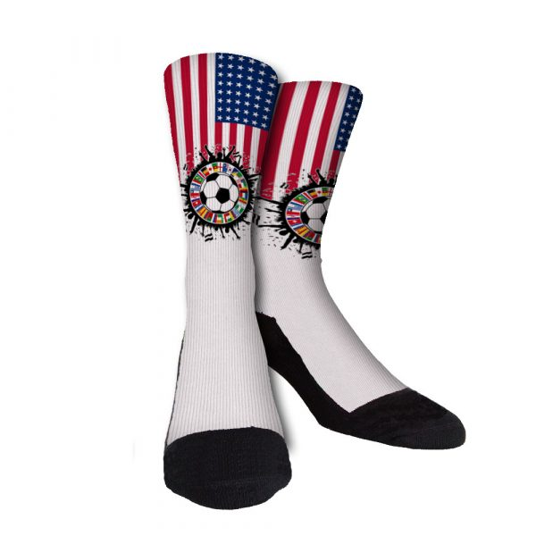 us world soccer custom socks