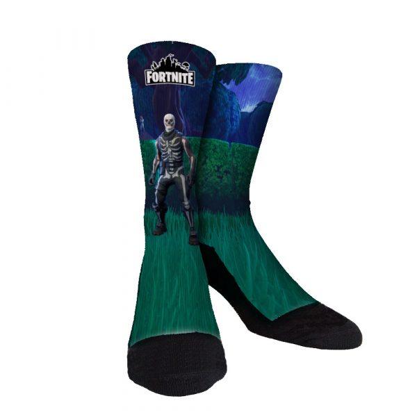 Fortnite Skull Trooper Custom Socks
