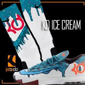 timeless design 9d6b3 7128d Click to enlarge. HomeShopSocks for ShoesKD Socks KD Ice Cream